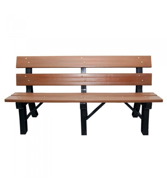 banco de madeira plastica