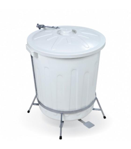 Cesto com Pedal Branco 30 litros