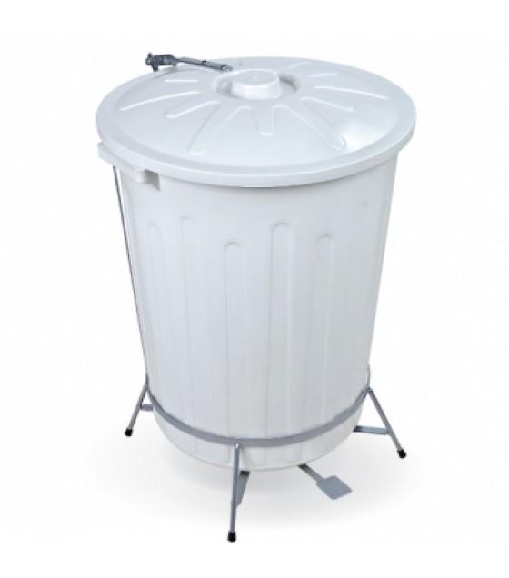 Cesto com Pedal Branco 65 litros